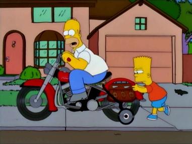 Homer's Motorbike