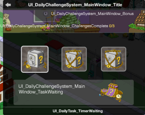 Tapped Out Daily Challenge System Screen