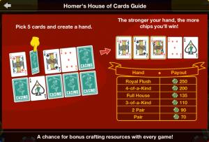 TSTO Casino Homer's House of Card Guide